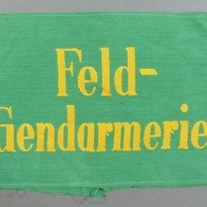 "Army/Waffen-SS ""Feld-Gendarmerie"" Armband"