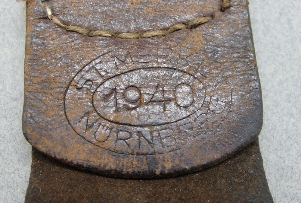 Leather Belt Buckle Tab by St. Merkl Nurnberg 1940