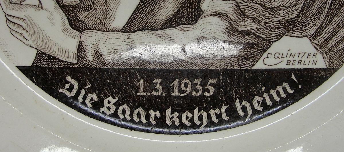 1935 The Saar Returns Home - Die Saar kehrt heim Plate
