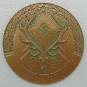 "1937 German Hunting Association ""Deutsche Jägerschaft"" 3rd Place Plaque"