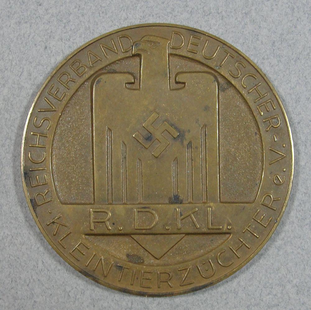 Reichsverband Deutscher Kleintierzüchter Table Medal