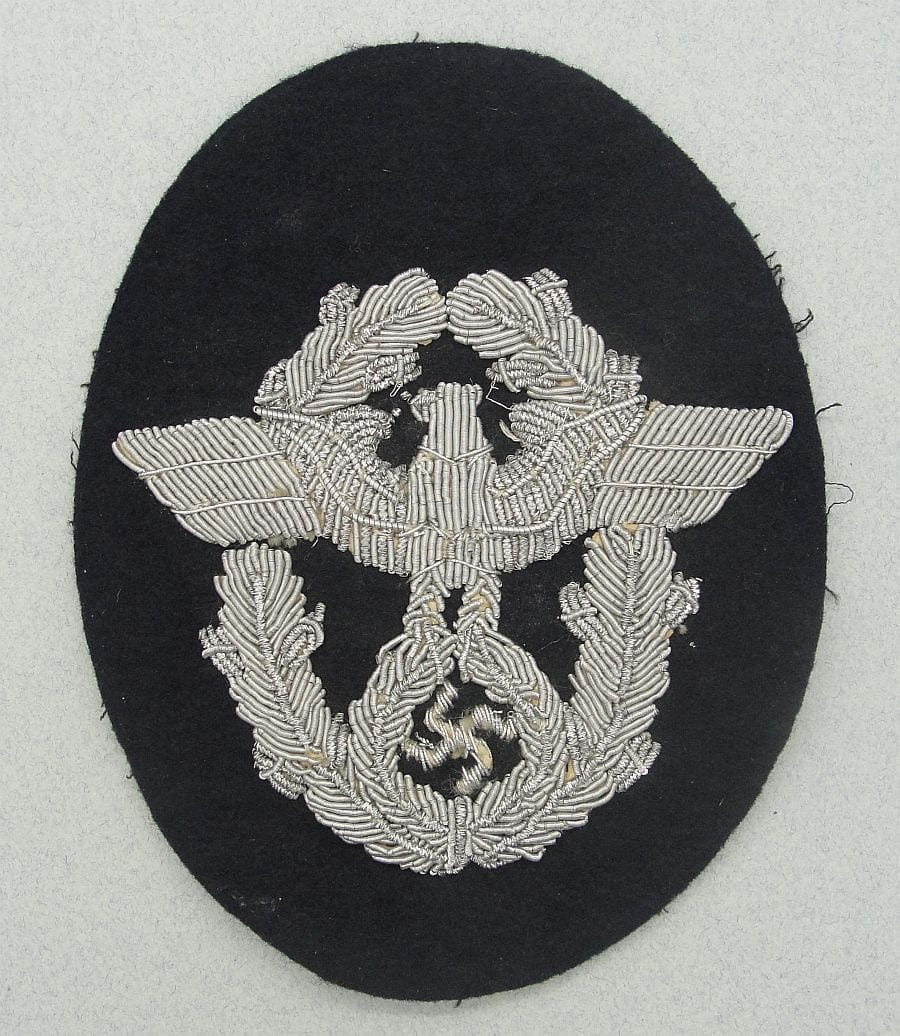 Police Panzer Officer's Sleeve Eagle