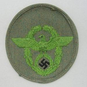 """SCHUTZPOLIZEI Police Eagle on """"mottled"""" Orange/Green HBT"""
