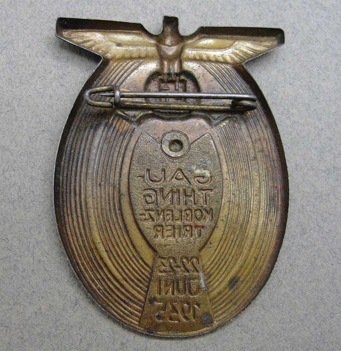 1935 Gau Thing Koblenz Trier Day Badge