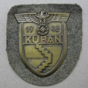 KUBAN Shield on Army/Waffen-SS Backing