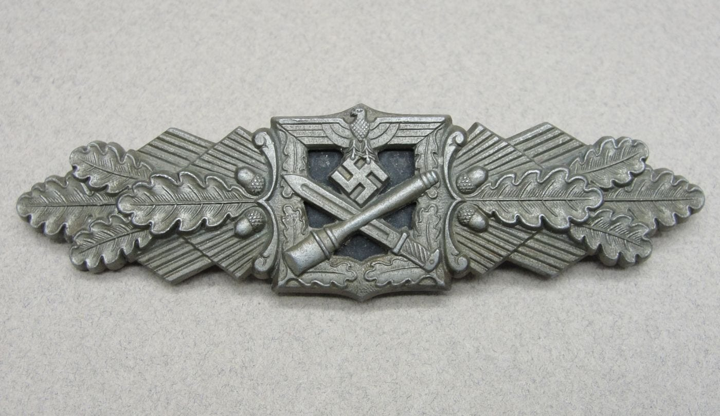 "Army/Waffen-SS Close Combat Clasp, Bronze Grade by ""F & B. L."""