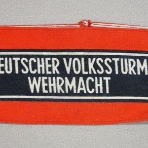 """""""DEUTSCHER VOLKSSTURM WEHRMACHT"""" People's Army Armband"""
