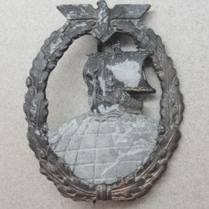 "Kriegsmarine Auxiliary Cruiser Badge by ""R.S."""