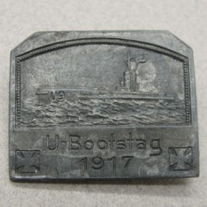 U-Boat U-9 1917 Event Badge by Deschler