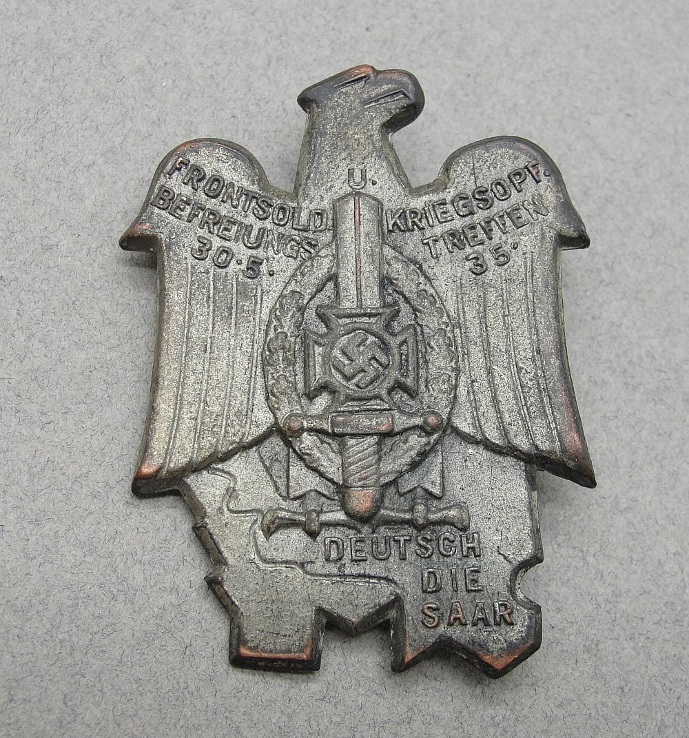 1935 Front Soldiers Saar Tinnie