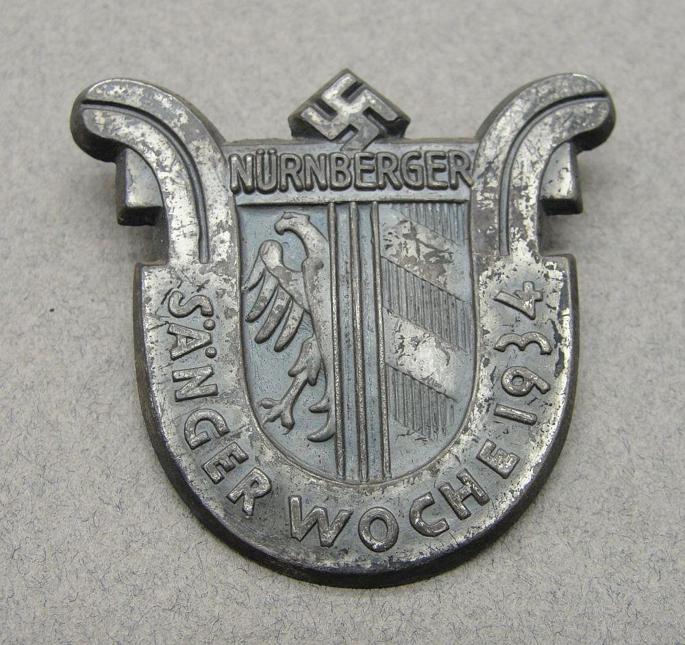 1934 Nuremberg Singing Festival Badge