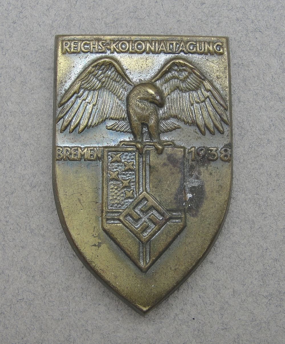 1938 Reichs Colonial Day Badge