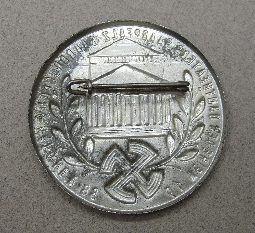 1938 Gau Theater Badge
