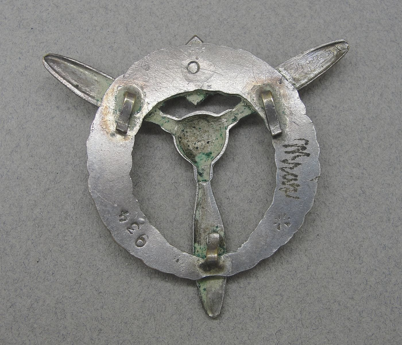 Czechoslovakia Flight Ground Mechanic Badge Named
