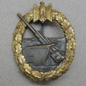 Kriegsmarine Coastal Artillery Badge by Juncker