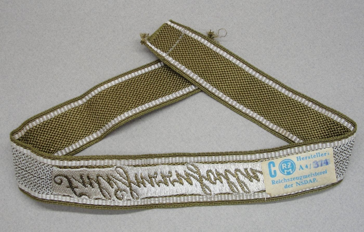 Elite SA Honor and Panzer Grenadier Division Felderrnalle Cufftitle with RZM Tag - Mint - Choice!
