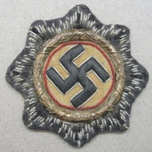 German Cross in Gold - Luftwaffe Ground Division - Tunic Removed
