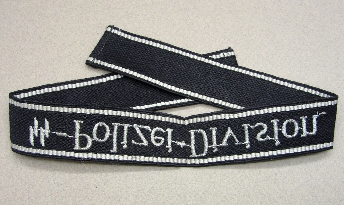 """SS-Polizei-Division"" EM/NCO's Cuff Title with Both SS-RZM Tags"