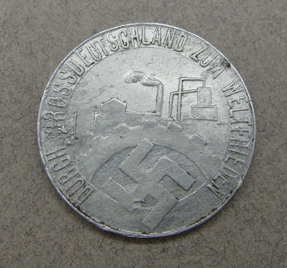 1935 Free Saar Gau Vienna Token