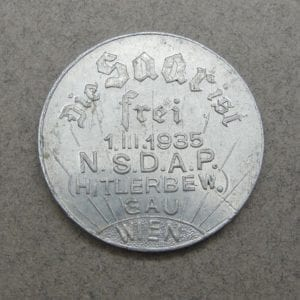 1935 Free the Saar Token