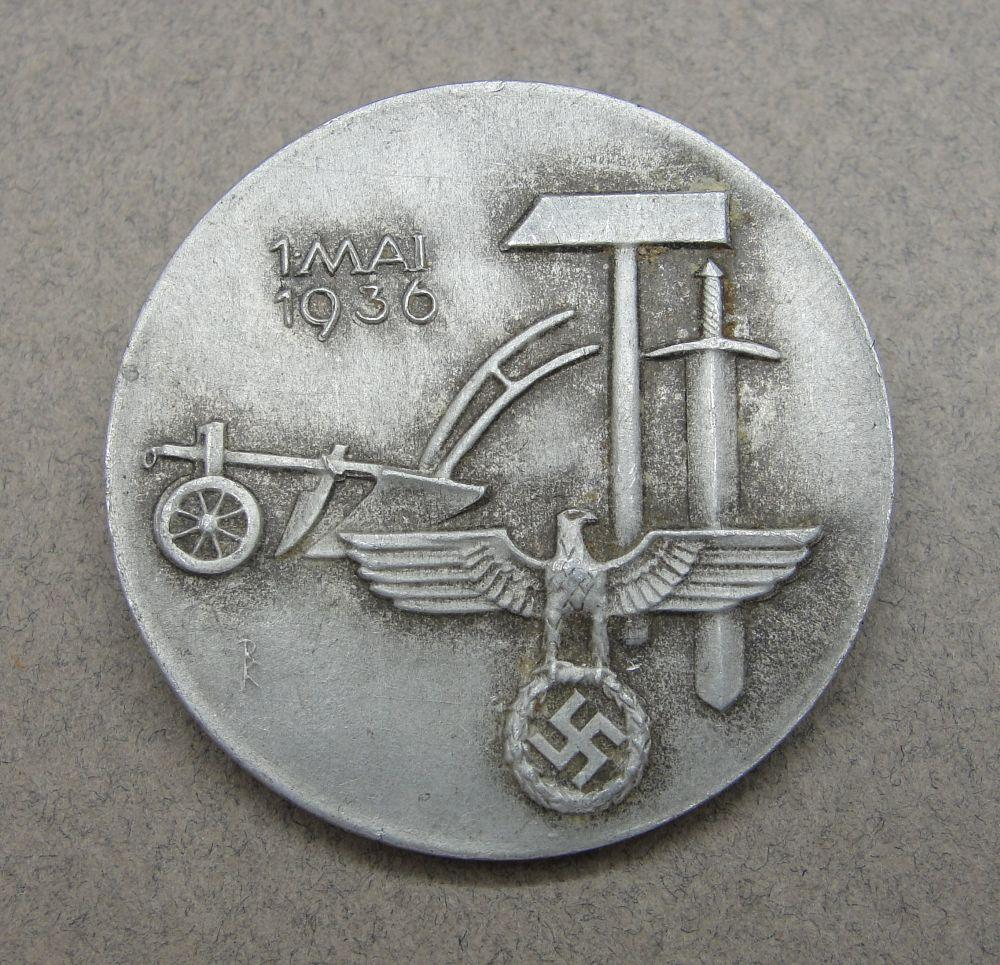 1936 May Day Badge