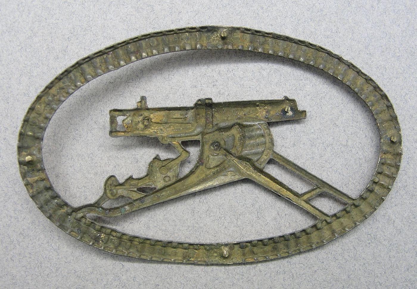 WW1 German Machine Gunner's Badge by Carl Leeburg