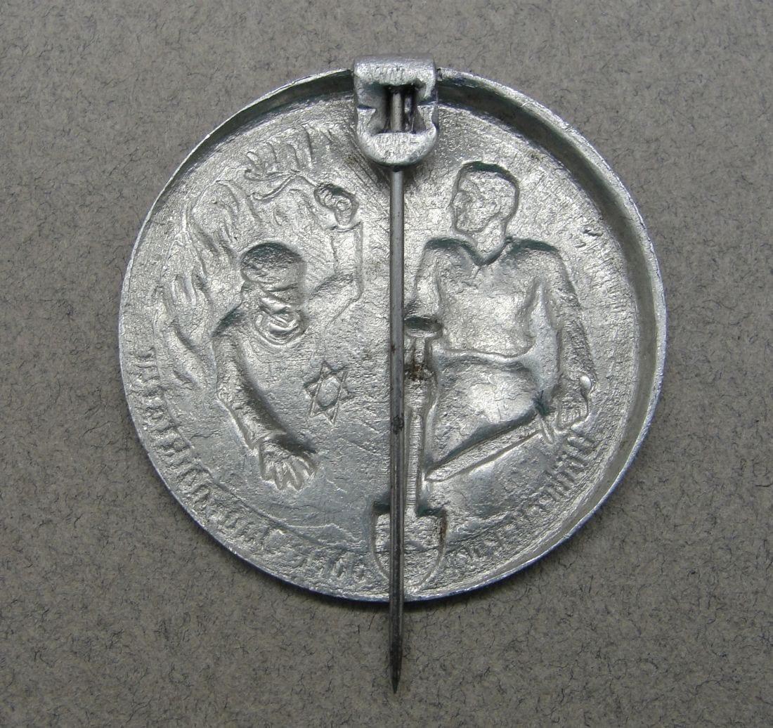 People's Peace or Jewish Dictatorship Propaganda Badge