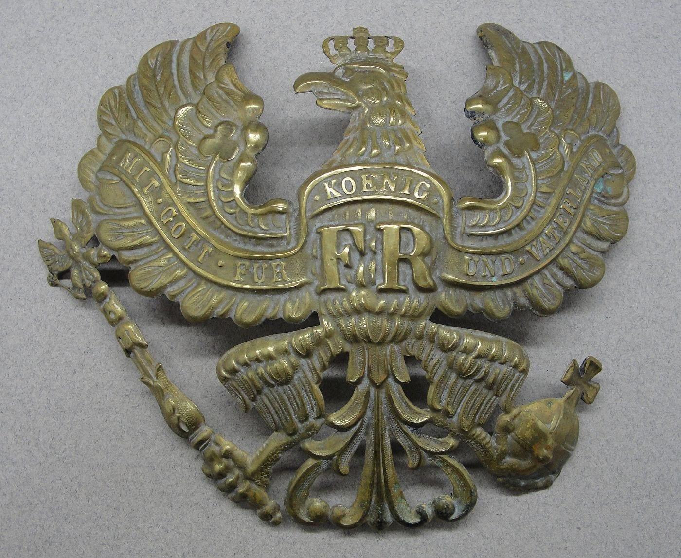 Imperial German - Prussian Spiked Helmet Pickelhaube Front Plate