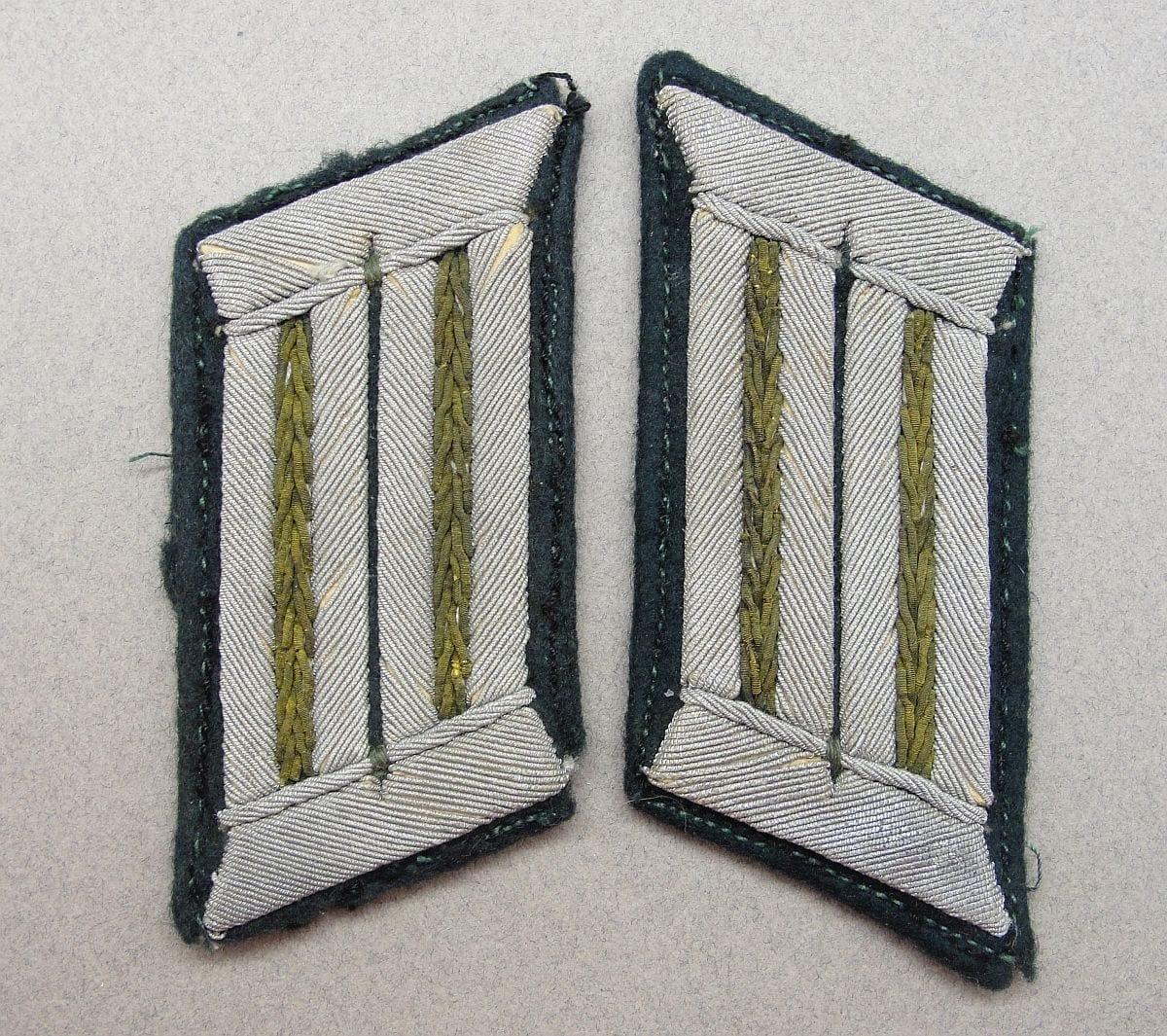 Army Panzergrenadier Officer's Collar Tabs