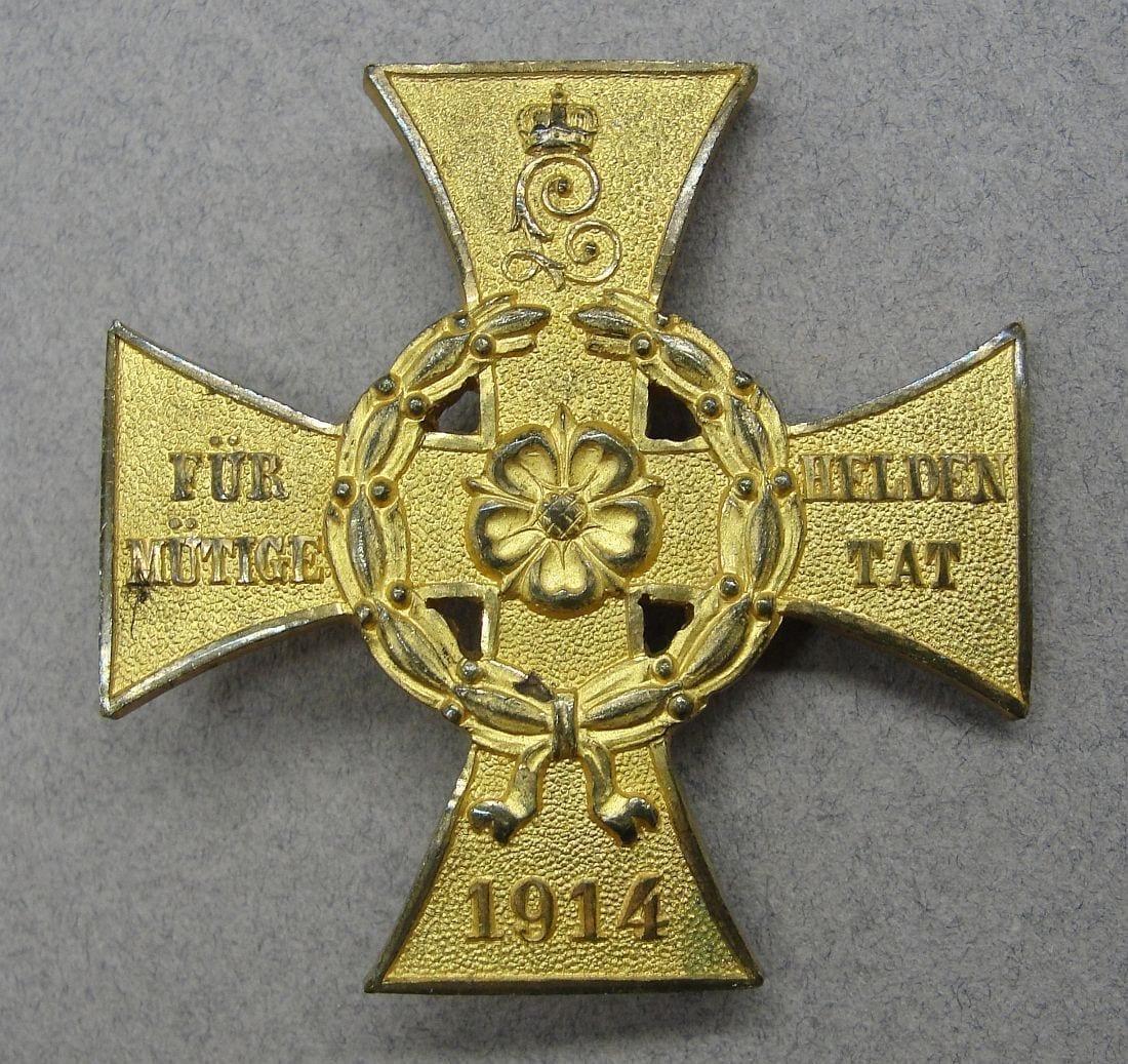 Germany - Lippe-Detmold War Honor Cross for Heroic Deeds by Paul Meybauer