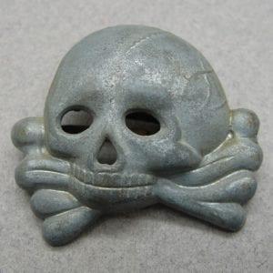SS Visor Cap Skull, Early Jawless First Pattern, Dachau Bringback Style