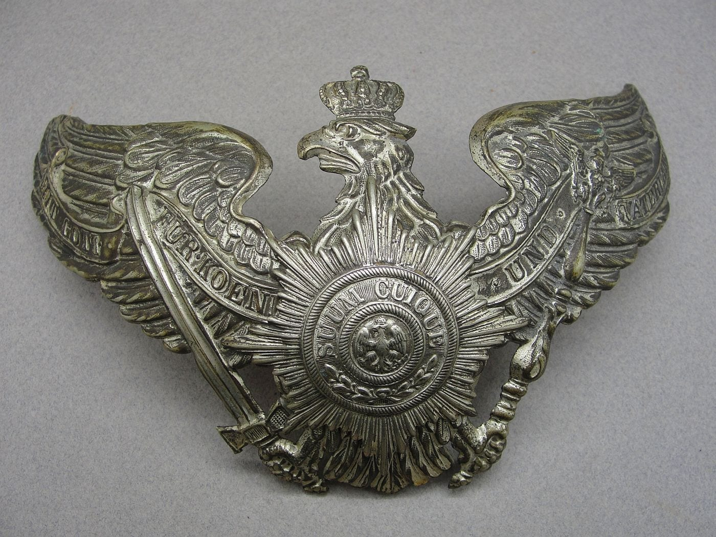 Imperial German Helmet Plate - Guards Unit