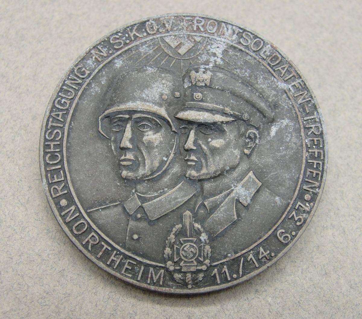 1937 NSKOV Front Fighters Day Badge