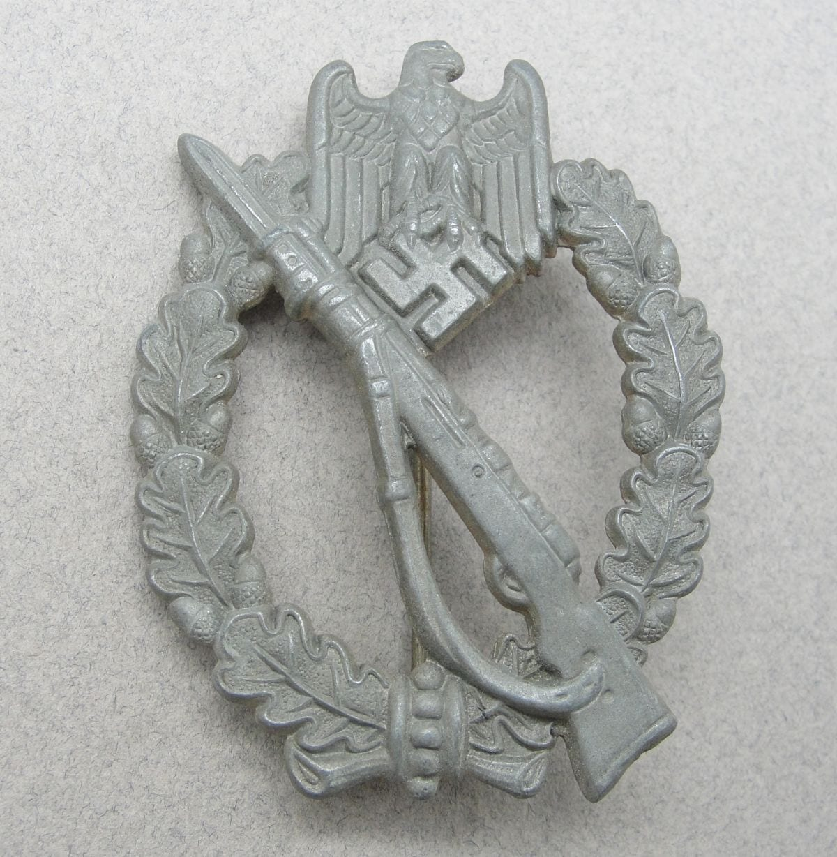 Army/Waffen-SS Infantry Assault Badge, Silver Grade, with Original Price on Reverse