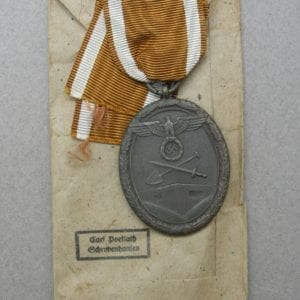 West Wall Medal with Carl Poellath Packet