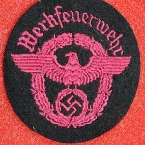 """Fire Protection Police """"Werkfeurwehr"""" Sleeve Insignia"""