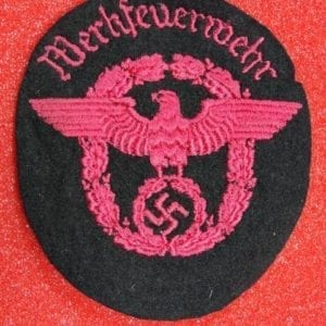 "Fire Protection Police ""Werkfeurwehr"" Sleeve Insignia"